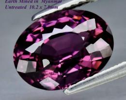 3.23ct VS Purple Spinel - Myanmar / Unheated / 10.2 x 7.8mm