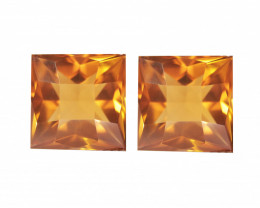 15.07 Cts Paired Golden Yellow Color Natural Citrine Gemstone