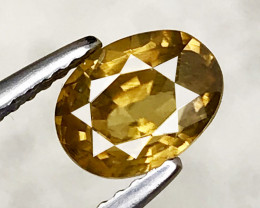 1.82 CT ZIRCON YELLOW 100% NATURAL UNHEATED SRI LANKA