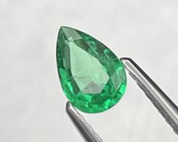 AAA Grade Vivid Green Afghanistan Panjshir Natural Emerald 0.38 Cts