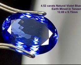 4.52ct IF Tanzanite - Violet Blue 12.69 X 9.75mm