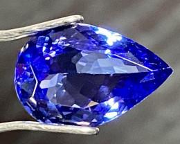 3.14ct IF Tanzanite - Violet Blue 11.9 x 8.1mm