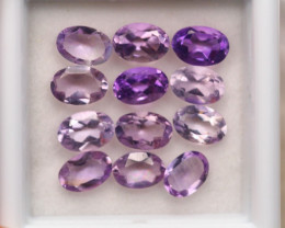 4.92Ct Natural Purple Amethyst Oval Cut Lot B3226