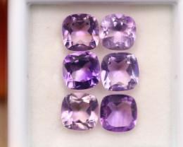 5.10Ct Natural Purple Amethyst Cushion Cut Lot B3230