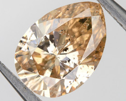 Fancy Pink Champagne Loose Natural Diamond 0.76 Ct. Pear Untreated