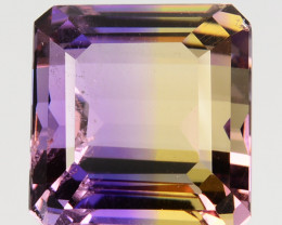 6.24 Cts Natural Bi-Color Ametrine Octagon Emerald Cut Bolivia