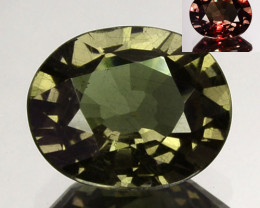 ~UNTREATED~ 0.86 Cts Natural Color Change Garnet Oval Tanzania