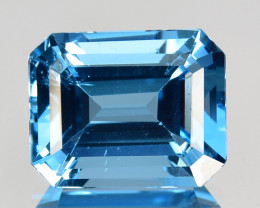 ~EMERALD CUT~ 3.93 Cts Beautiful Natural Baby Blue Topaz Brazil