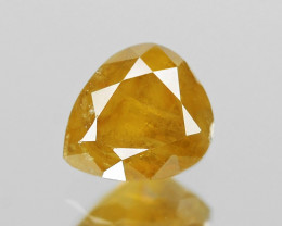 Untreated Yellow Diamond 0.18  Cts Untreated Natural Fancy Vivid Loose Diam