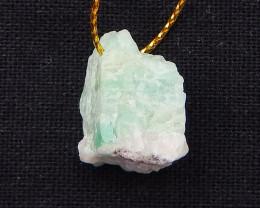 24.5cts nugget emerald pendant, gemstone pendant beads, stone for pendant D
