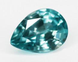 *No Reserve* 1.04 Cts Sparkling Blue Zircon Natural Gemstone