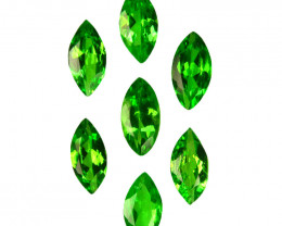 1.09 Cts Natural Tsavorite Garnet 5x2.5mm Marquise Cut 7Pcs Kenya