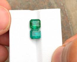 1.80 Ct Natural Blue & Green Transparent Tourmaline Gemstones Parcels