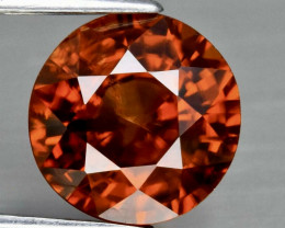 2.45ct UNHEATED  Orange Zircon - Tanzania 7.2 x 7.0mm