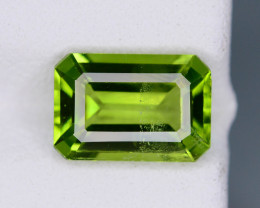 Green Parrot 2.65 ct Peridot Ring Size