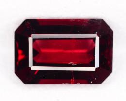 Gorgeous Luster 2.15 ct Emerald Cut Red Garnet