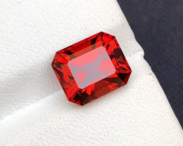 Precision Emerald Cut 4.20  Natural Malaya Garnet ~ GAM