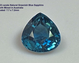 ON HOLD 2.23ct  Sapphire -  Australia / Heated Only / 7.7 x 7.2mm