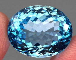 29.61 ct. 100% Natural Earth Mined Top Quality Blue Topaz Brazil