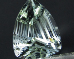 10.77Cts Genuine Amazing Unheated Fancy Cut White Topaz See VEDIO