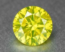 *No Reserve* Diamond 0.26 Cts Sparkling Fancy Vivid Yellow Natural Diamond