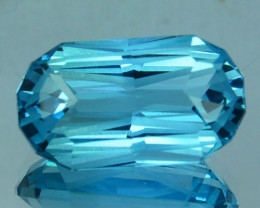 ~CUSTOM CUT~ 4.90 Cts Natural Blue Topaz Fancy Oval USA