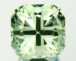 ~CUSTOM CUT~ 11.08 Cts Natural Prasiolite / Amethyst Cushion Brazil