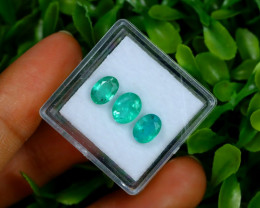 2.27Ct Oval Cut Natural Zambian Green Color Emerald Lot A1907