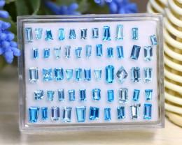 Topaz 10.52Ct Fancy Cut Natural Blue Color Topaz Lot Box A1908