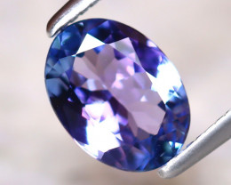 Tanzanite 1.04Ct Natural VVS Purplish Blue Tanzanite D1910/A45