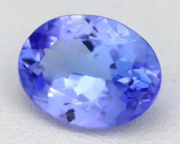 1.68Ct VVS Oval Cut Natural Purplish Blue Tanzanite A1915