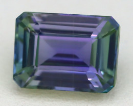 4.46Ct VVS Octagon Cut Natural Unheated BiColor Peacock Tanzanite A1920