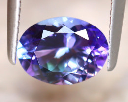 Tanzanite 1.25Ct Natural VVS Purplish Blue Tanzanite D1911/A45