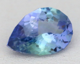 1.01Ct VS2 Master Cut Natural BiColor Peacock Tanzanite A1928