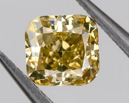 Fancy Orange Brown Yellow VS2 Loose Natural Diamond 0.32 Ct. Cushion Untrea