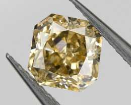 Fancy Gray Brown SI2 Loose Natural Diamond 0.35 Ct. Radiant Untreated