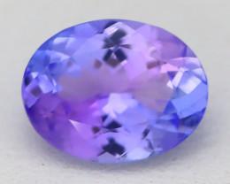 1.97Ct VVS Oval Cut Natural Vivid Purplish Blue Tanzanite B2001