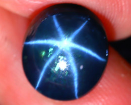 Star Sapphire 6.60Ct Natural 6 Rays Blue Star Sapphire D2121/A39