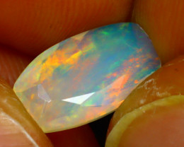 Welo Opal 1.43Ct Natural Faceted Ethiopian Play of Color Opal D2123/A44