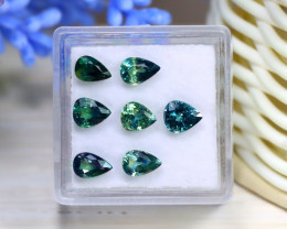 4.55Ct Pear Cut Natural Australian Parti Sapphire Lot Box B2019