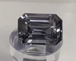 Pretty Emerald Cut Silvery Grey Spinel - Burma 5092