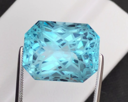 Stunning 21.85 Ct Natural Blue Topaz Gemstone