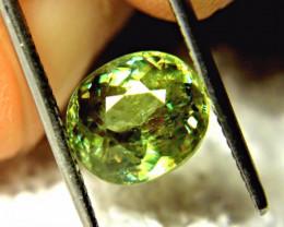 3.88 Ct. Vibrant Green SI Sphene - Rainbow Flashy, Beautiful