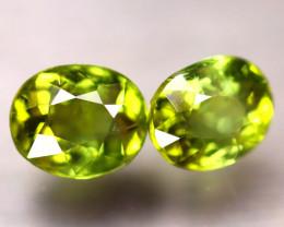 Tourmaline 2.40Ct 2Pcs Natural Green Color Tourmaline E2011/B48