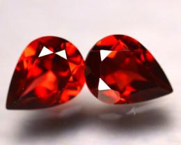 Almandine 2.40Ct 2Pcs Natural Vivid Blood Red Almandine Garnet  E2017/B1