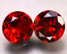 Almandine 3.00Ct 2Pcs Natural Vivid Blood Red Almandine Garnet E2018/B3