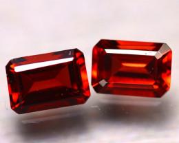 Almandine 2.20Ct 2Pcs Natural Vivid Blood Red Almandine Garnet E2019/B1