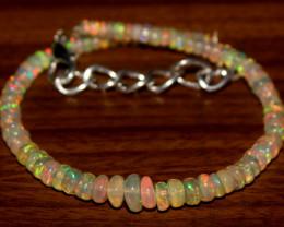 19 Crts Natural Ethiopian Welo Opal Beads Bracelet 35