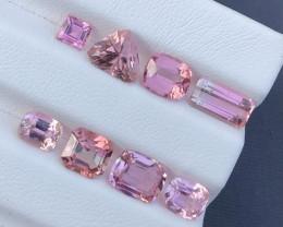 ~No Reserve~10.55 ct Pleasing Baby Pink Color Congo Tourmaline Parcel