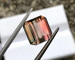 6.710 ct Intense Bi-Color Nigerian Tourmaline